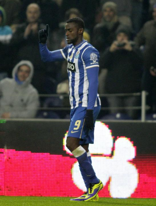 Porto's Jackson celebrates his goal against Braga during their Portuguese Premier League soccer match at the Dragao stadium in Porto
