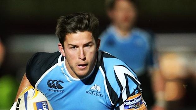 DTH van der Merwe, pictured, celebrated the birth of his daughter this week with an early try in Glasgow's win over Connacht.