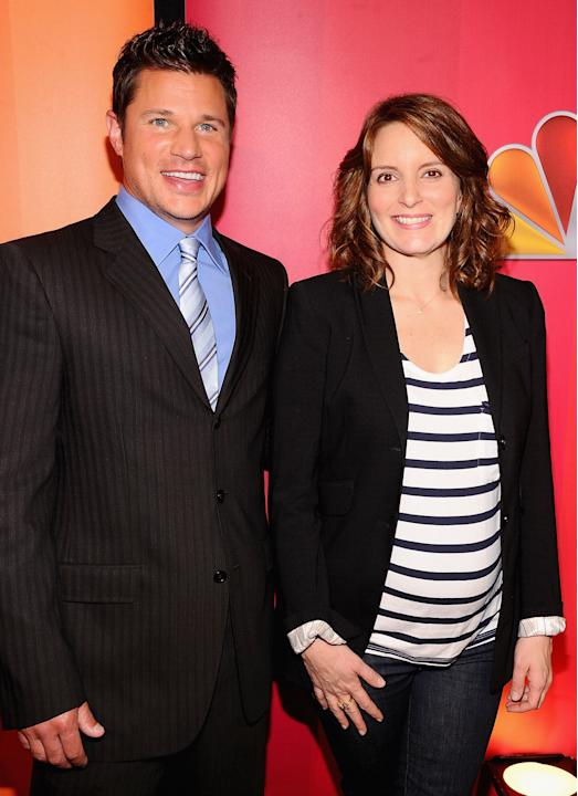 Tina Fey is pregnant for the second time at 40. Nick Lachey is not the dad, btw