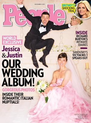 Justin Timberlake and Jessica Biel on the cover of People magazine's November 5, 2012 issue  -- People