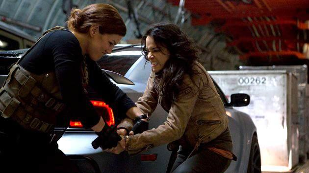 Gina Carano and Michelle Rodriguez in 'Fast & Furious 6' -- Universal Pictures