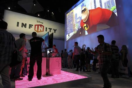 People visit the Disney Infinity exhibit at E3, the Electronic Entertainment Expo, in Los Angeles, California.