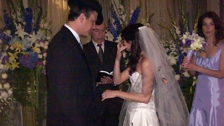 Lily tears up during vows on How I Met Your Mother