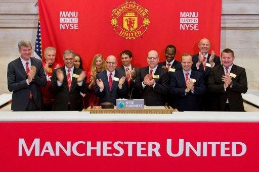 Manchester United Executives as they ring the Opening Bell at the New York Stock Exchange