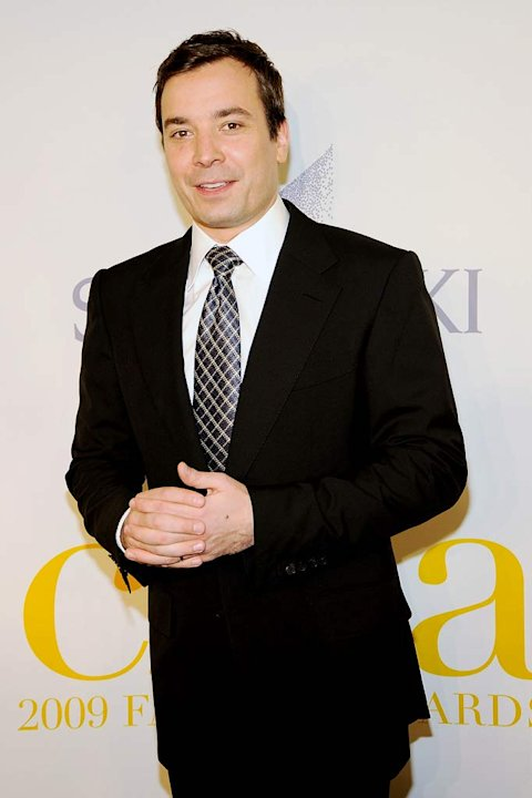 Jimmy Fallon poses backstage at the 2009 CFDA Fashion Awards at Alice Tully Hall in Lincoln Center on June 15, 2009 in New York City.