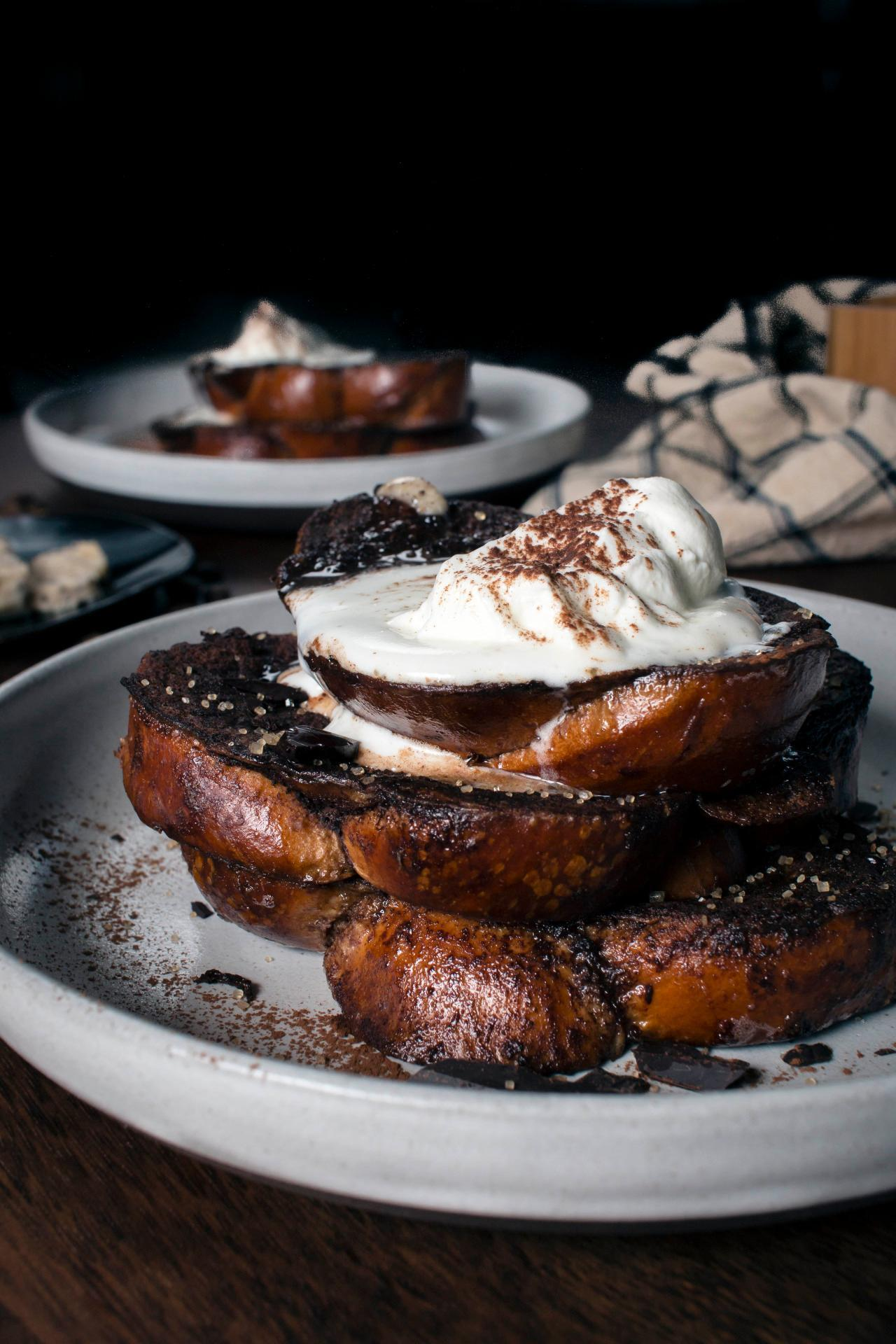 Dark Chocolate French Toast With Coffee Butter Is At-Home Elegance