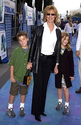 Christine Lahti and crew at the Hollywood premiere of Monsters, Inc.