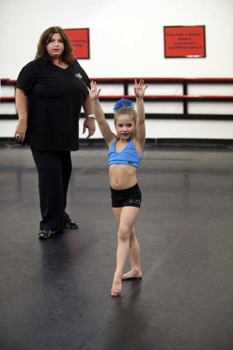"Abby Lee Miller teaches Mackenzie the choreography in ""Dance Moms."""