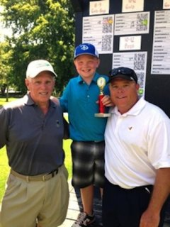 9-year-old Zach Adams shot a 58 over 18 holes — Mt. Pleasant Junior Golf Association