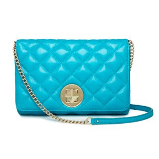 Turquoise quilted bag by Kate Spade
