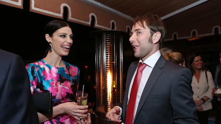 Jessica Pare and  Vincent Kartheiser at the AMC Season 6 Premiere of Mad Men , on Wednesday, March, 20, 2013 in Los Angeles. (Photo by Alexandra Wyman/Invision for AMC/AP Images)