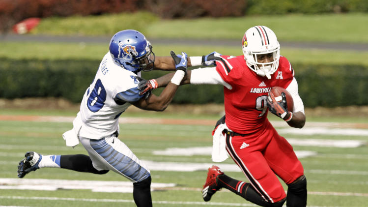 No. 21 Louisville holds off Memphis, 24-17