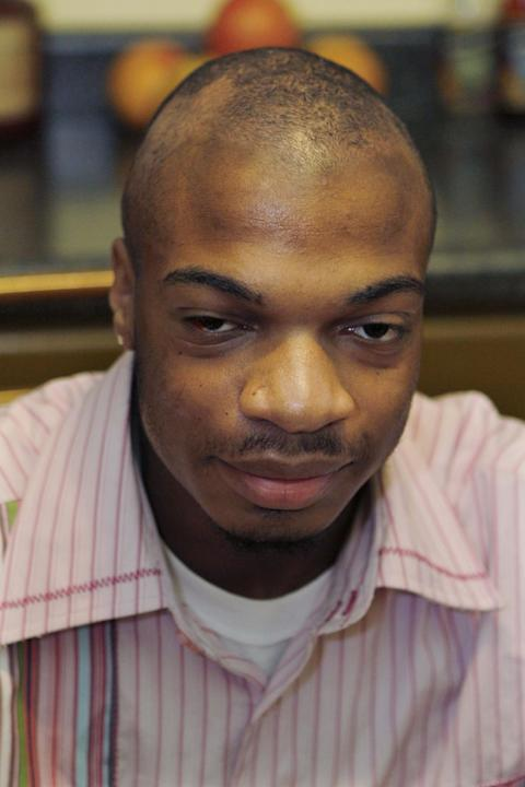 FILE - This Jan. 22, 2010 file photo shows Jordan Miles in his home in Pittsburgh. Opening statements are expected on Tuesday, March 11, 2014, in the retrial of three Pittsburgh police officers, one w