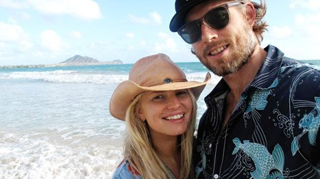Jessica Simpson Tweets &quot;Aloha&quot; Picture with Fiance Eric Johnson in Hawaii