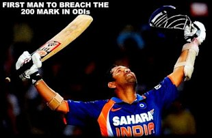 Indian cricketer Sachin Tendulkar throws