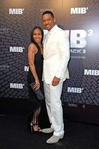 Jada Pinkett Smith and Will Smith attend the &#39;Men In Black 3&#39; European Premiere at Le Grand Rex in Paris on May 11, 2012 -- Getty Images