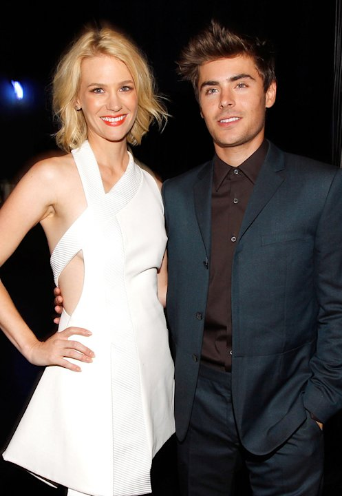 January Jones 2010 Zac Efron