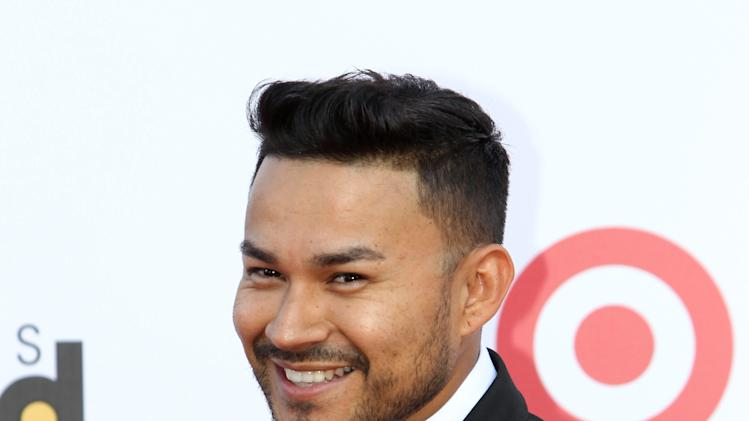 Mexican singer Frank J arrives at the Latin Billboard Awards in Coral Gables, Fla. Thursday, April 25, 2013. (Photo by Carlo Allegri/Invision/AP)
