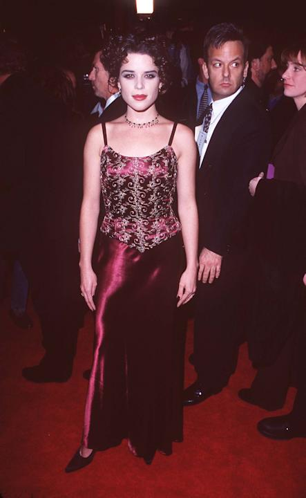 Neve Campbell in an embellished gown