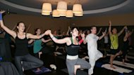 A karaoke yoga class in Los Angeles