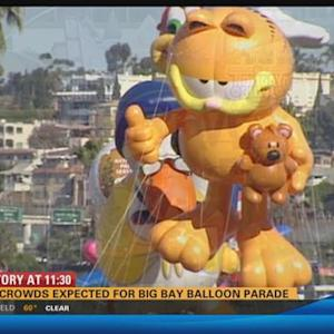 Huge crowds expected for Big Bay Balloon Parade 11:30 a.m.