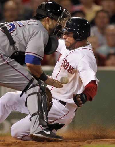 Cook, 8 doubles  give Red Sox 9-2 win over Rangers