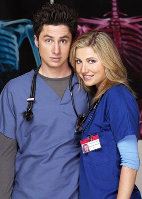 Zach Braff and Sarah Chalke NBC's Scrubs
