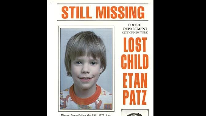This 1979 photo provided by the New York City Police Department shows a missing child poster for Etan Patz. New York City Police and the FBI began digging up a New York basement Thursday, April 19, 2012 for the remains of the 6-year-old boy whose 1979 disappearance on his way to school helped launch a missing children's movement that put kids' faces on milk cartons. (AP Photo/New York City Police Department)