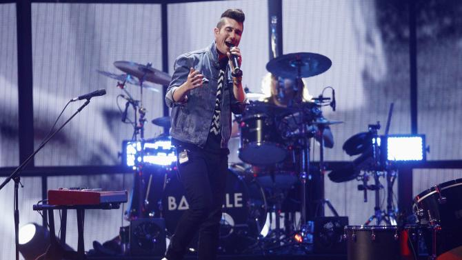 Bastille front man Dan Smith performs during the 2014 iHeartRadio Music Festival in Las Vegas
