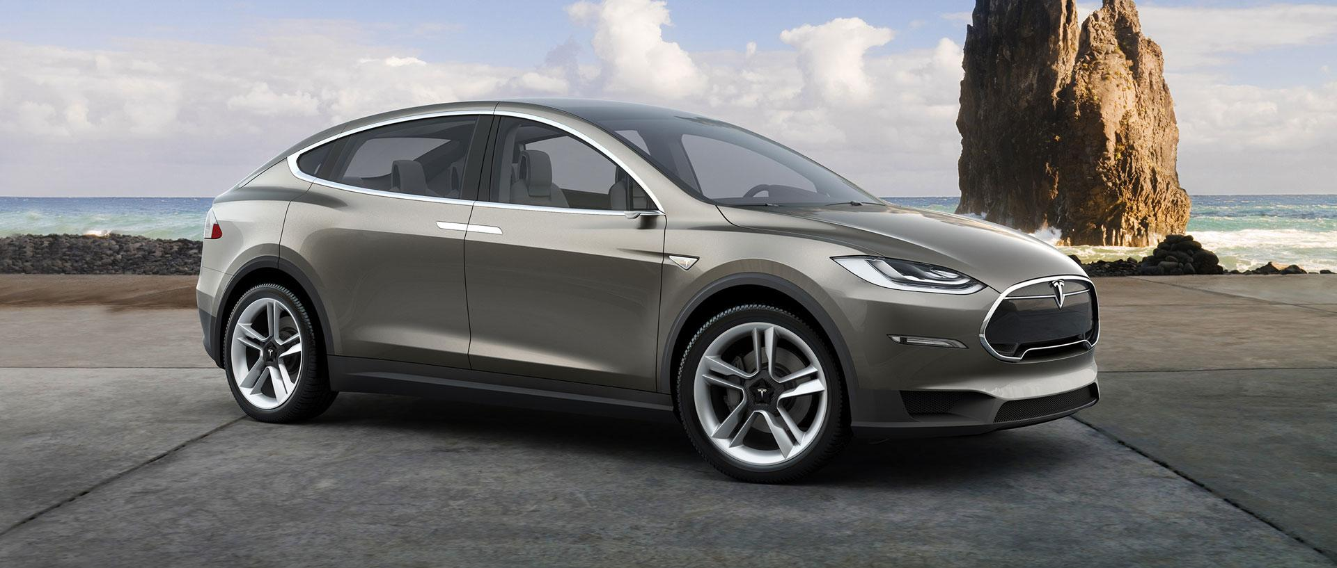 Tesla Model X Crossover Races to Production