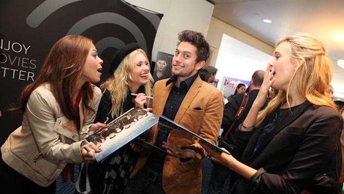 IMAGE DISTRIBUTED FOR TIME WARNER CABLE - Toni Trucks, MyAnna Buring, Jackson Rathbone and Maggie Grace, from left to right, are seen at the Time Warner Cable and Twilight Fan Breakfast on Sunday, Nov. 11, 2012 in Los Angeles. (Photo by Casey Rodgers/Invision for Time Warner Cable/AP Images)