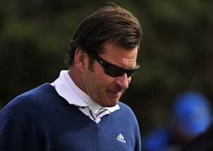England's Sir Nick Faldo during round two of The Open Championship 2010 at St Andrews