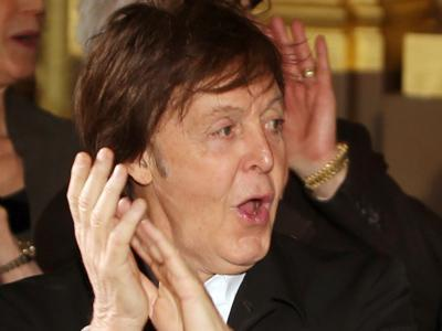 Sir Paul Supports Stella at Paris Show