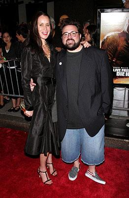 Kevin Smith and wife Jennifer at the New York premiere of 20th Century Fox's Live Free or Die Hard