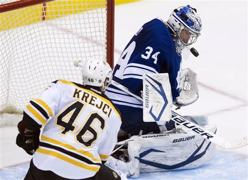 Krejci's 3rd goal lifts Bruins, 4-3 in OT