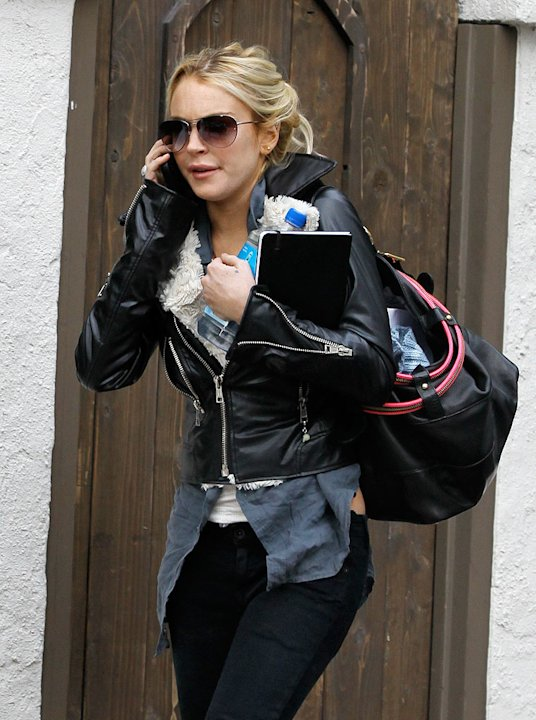 Lohan Lindsay Leaves House