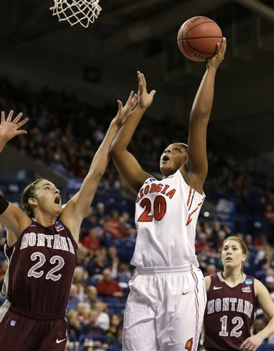 Georgia beats Montana in NCAA women's tournament
