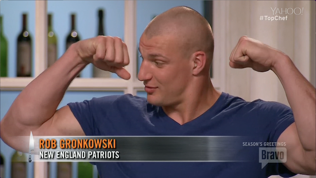 Gronk Polishes Off Polish Sausages on Top Chef