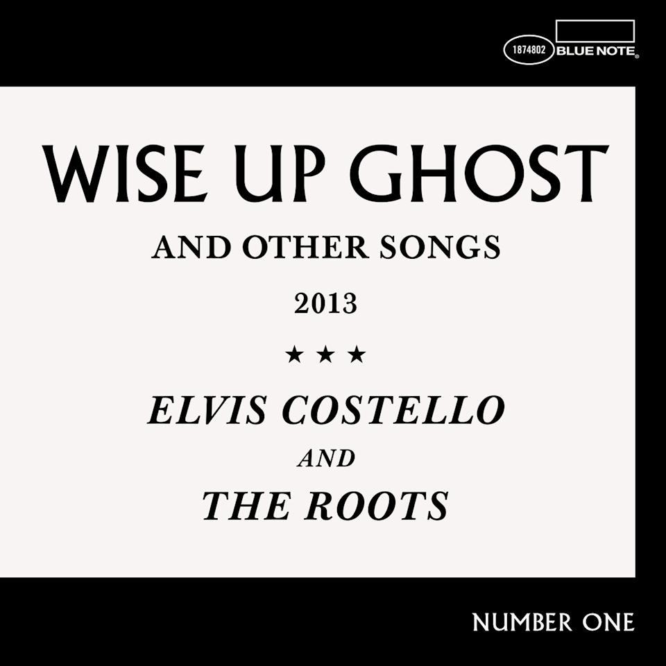 "This CD cover image released by Blue Note Records shows ""Wise Up Ghost,"" by Elvis Costello and The Roots. (AP Photo/Blue Note Records)"