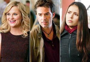 Amy Poehler, Billy Burke, Nina Dobrev | Photo Credits: Trae Patton/NBC, John Domoney/NBC, Quantrell D. Colbert/The CW