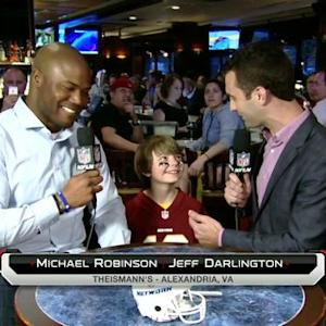 Young Washington Redskins fan makes prediction for team's first overall pick in NFL Draft