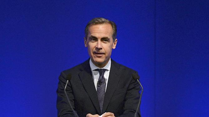 Mark Carney, Governor of the Bank of England, speaks during his address to business leaders in Nottingham, England, Wednesday, Aug. 28, 2013. Carney said officials are ready to add stimulus if investor expectations for higher interest rates rise too far and undermine the recovery. (AP Photo/Nigel Roddis, Pool)