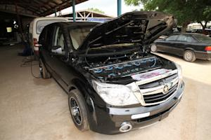 A Kantanka car at the Apostle Safo Technology Research …