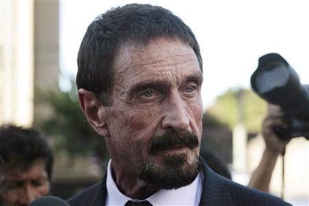 Software guru McAfee wants to return to United States