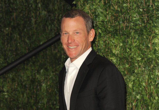 FILE - In this Feb. 26, 2012 file photo, Lance Armstrong arrives at the 2012 Vanity Fair Oscar Party Hosted By Graydon Carter held at Sunset Tower, in West Hollywood, Calif. Paramount Pictures and J.J. Abrams' production company, Bad Robot, are planning a biopic about the disgraced cyclist, a studio spokesperson said Friday, Jan. 18, 2013. (Photo by Jordan Strauss/Invision/AP Images, File)