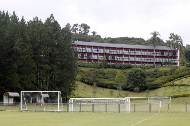 A general view shows the Sao Paulo Soccer club training center in Cotia