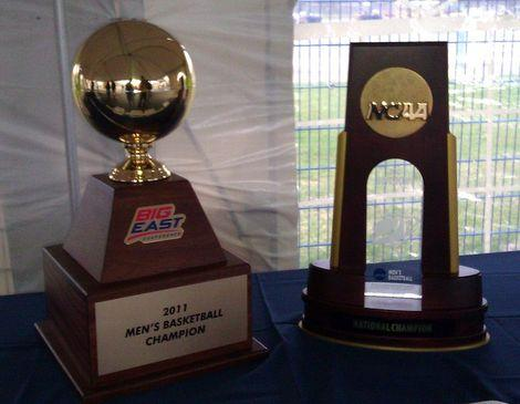 UConn's 2011 Championship Trophies in men's basketball