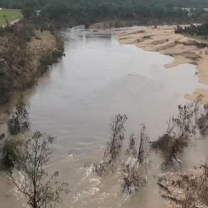 Drone's eye view of Texas flood damage