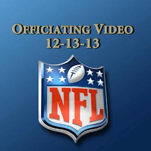 Week 14: NFL officiating video