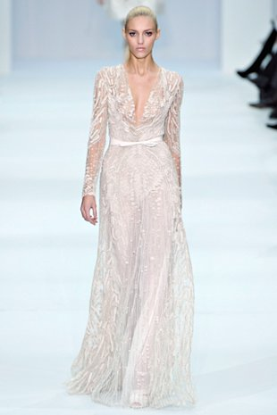 Angelina Jolie Elie Saab wedding dress